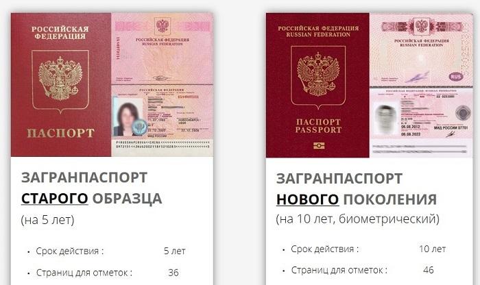 Различия загранпаспортов